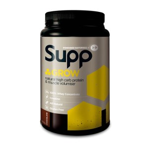 Supp Grow - Muscle Mass Gain 100% Whey Protein Concentrate - 900g - 15 Servings
